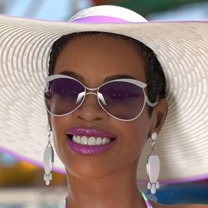 3D model light skinned bikini girl