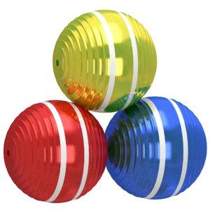 3D model croquet ball colors