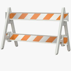 roadworks barricade a-frame 3D model