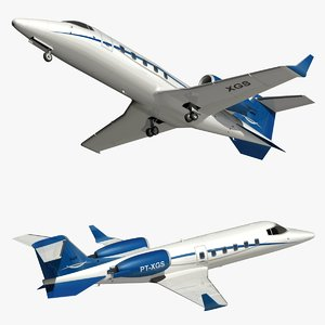 3D bombardier learjet 60 private