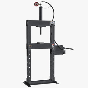 manual hydraulic bench press 3D model