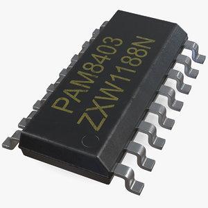 3D pam8403 16 stereo digital model