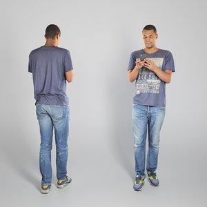 photogrammetry young man african 3D model