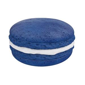 macaroon blue 3D