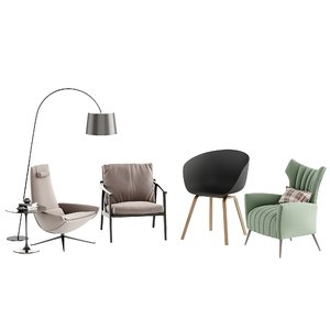 modern fabric leisure chair 3D