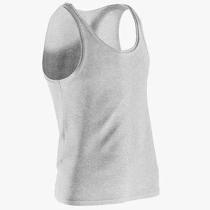 3D realistic men s sleeveless model