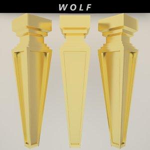 leg furniture 3D model