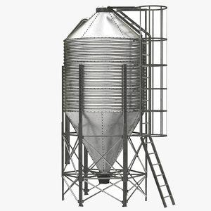 feed silo 3D model