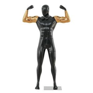 3D black male mannequin golden model