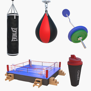 boxing ring barbell sport model