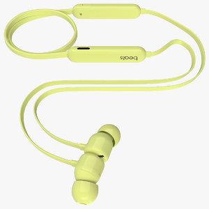3D model beats flex earphones yuzu