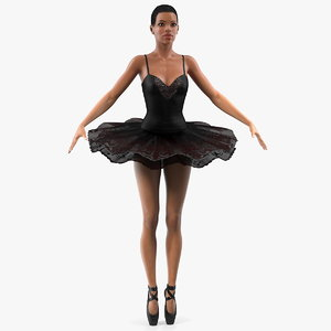 light skinned black ballerina 3D