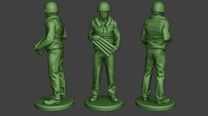 american soldier ww2 navy 3D model
