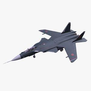 su-47 fighter jet 3D model
