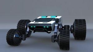 4x4 wheel robot drone model