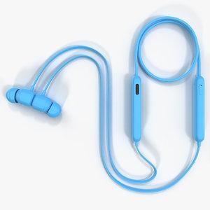 beats flex earphones flame 3D model