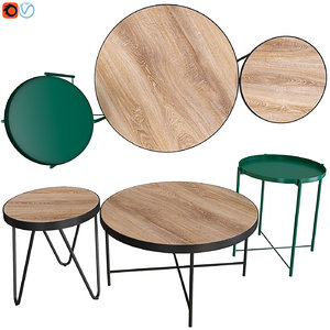 acme bage end table ikea 3D