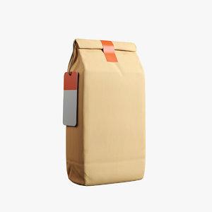 3D coffee bag v1 model