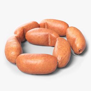 3D model sausages realistic