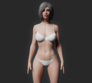 3D body rig cartoons model