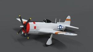 p-47 n thunderbolt airplane 3D model
