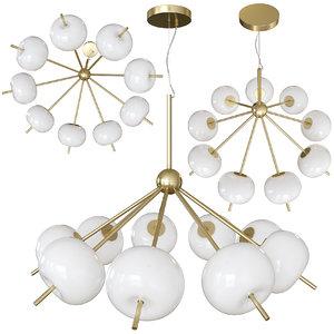 3D suspended chandelier favorite bacca model