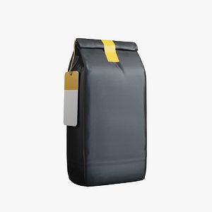 coffee bag v2 3D model