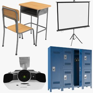 real lockers projector desk model
