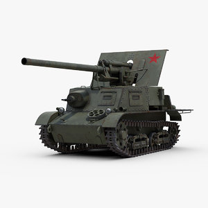 ww2 zis 30 anti tank 3d model