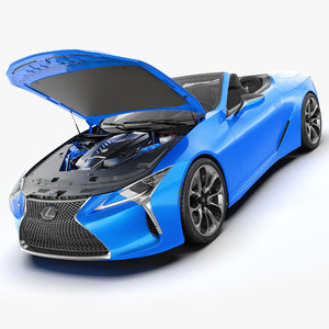 3D lexus lc 500 convertible model