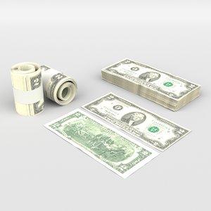 money dollar cash 3D model