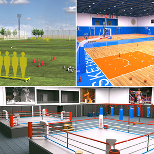 sports facilities basketball 2 3D model