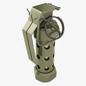 3D m84 grenade model