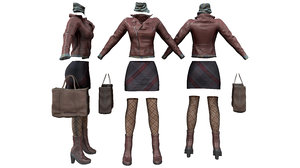 urban voyager fashion outfit 3D