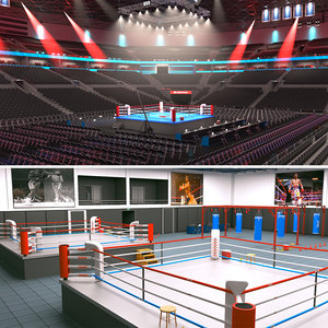 boxing arena gym 3D model