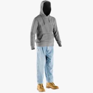 3D realistic men s boots model