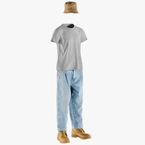 realistic men s boots 3D model