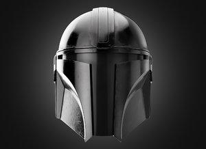 3D production mandalorian helmet model
