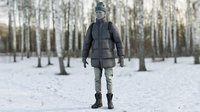 3D model realistic clothing 21 coat