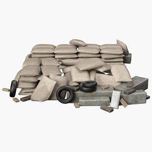 sandbag sand bag 3D