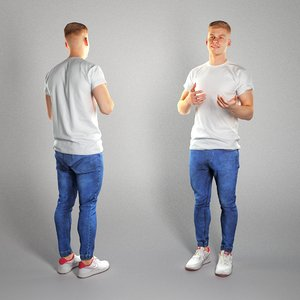 3D model photogrammetry human handsome man character