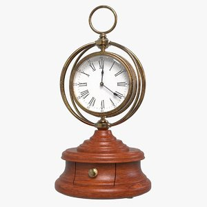 3D country mantel clock