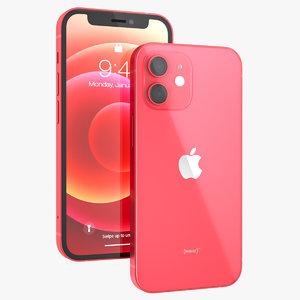 3D apple iphone 12 mini model