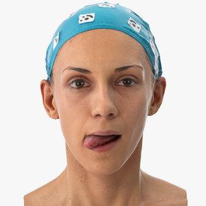 athena human head tongue 3D