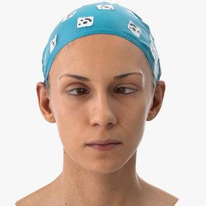 athena human head cross 3D