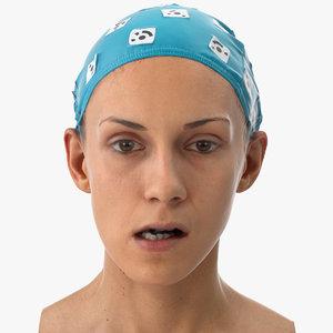 3D model athena human head jaw