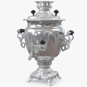 3D russian vintage electric samovar