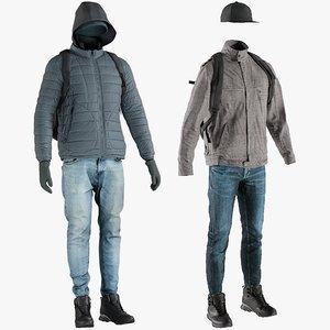 3D realistic clothing 22 pants
