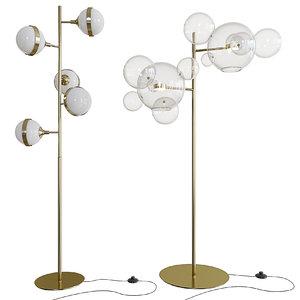 3D model floor lamp peggy guggen