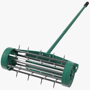 lawn spike aerator roller 3D model